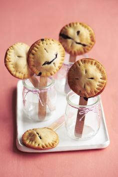 Mini Blueberry Pie Pops #desserts #myplate