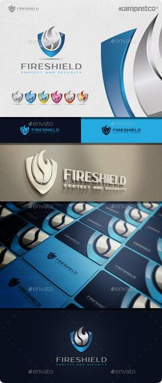 Fire Shield  Logo Design Template Vector #logotype Download it here: http://graphicriver.net/item/fire-shield-logo/10525702?s_rank=1354?ref=nexion