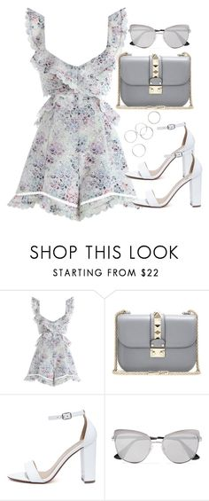"""""""Untitled #4104"""" by theeuropeancloset ❤ liked on Polyvore featuring Zimmermann, Valentino, My Delicious and Prada"""