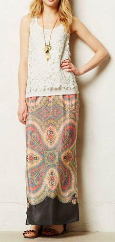 Anthropologie  Palme Maxi Skirt
