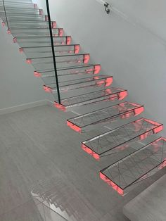 High-tech meets design with this Siller staircase Glass Stairs, Stair Treads, Tech, Design, Home Decor, Decoration Home, Room Decor, Home Interior Design