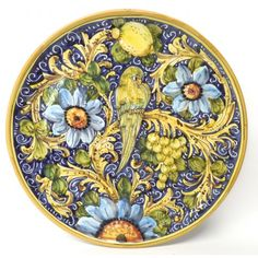 """Tuscan Pappagallo 16"""" Round Serving Platter"""