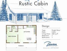 Rustic Cabin Floor Plans