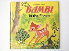 Disney Bambi Book, Bambi in the Forest, Walt Disney Presents Book by Purnell, Hardback, First Edition, 1980, 00950