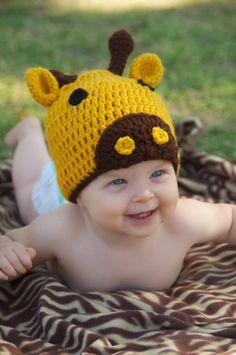 Crochet Giraffe Hat, halloween costume?!