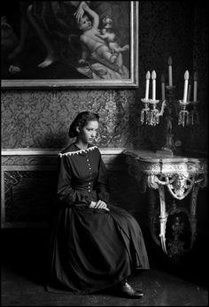 Ferdinando Scianna ITALY, Sicily, Palermo, Ganci Palace, fashion story with Dutch model MARPESSA for DOLCE and GABBANA.
