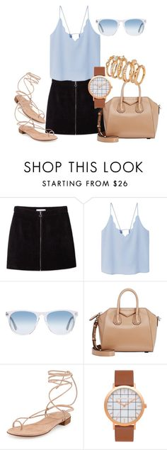 """""""Untitled #289"""" by charlotte-down on Polyvore featuring MANGO, Oliver Peoples, Givenchy, Stuart Weitzman and H&M"""