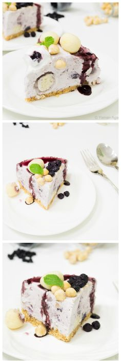 #Blueberry and #Rasgulla #Cheesecake with #Hazelnuts Recipe - #FusionDiwali #delicious #recipe #cake #desserts #dessertrecipes #yummy #delicious #food #sweet