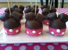Minnie Mouse Caramel Chocolate Apples