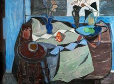 William George Gillies Still Life, Blue and Brown