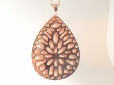 Fitbit One Pendant / Necklace - Rose Gold tone and flesh pink leather