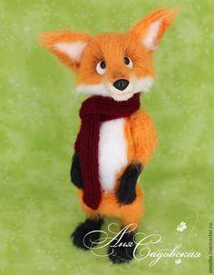 Купить Лисёнок Антуан - рыжий, лис, лисенок, лисенок игрушка, игрушка крючком, интерьерная игрушка