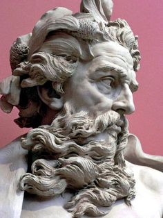 Hellas Inhabitants Of The Shiny Stone           - Bust of Neptune  by Lambert-Sigisbert Adam, 1725,...