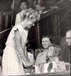 July 6, 1984: Princess Diana with Princess Michael of Kent at Wimbledon for the Men's Semi-Final between Jimmy Connors and Ivan Lendl.