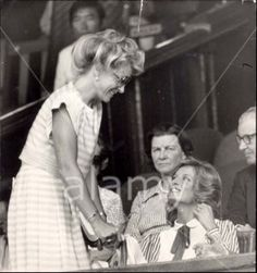 July 6, 1984: Princess Diana with Princess Michael of Kent at Wimbledon for the Men's Semi-Final between Jimmy Connors and Ivan Lendl.