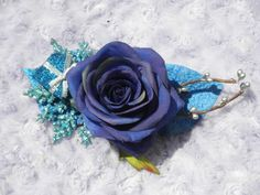 Ice Rose Hair Clip by ButterflyHollowTree on Etsy