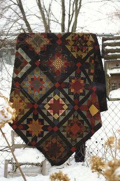 Plaid en patchwork, diy boho  automne-hiver
