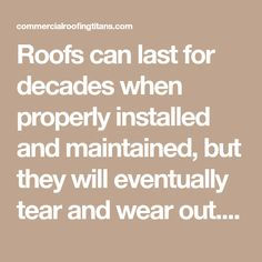 Roofs can last for decades when properly installed and maintained, but they will eventually tear and wear out. When a roof begins to show signs of wear, you have to decide if it's time to replace it. Perfect Image, Perfect Photo, Love Photos, Cool Pictures