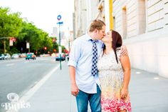 Here is a photo from an engagement session we posted on the blog today! Check out some more of Rose and Brian's e-session in #NYC