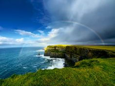 Rainbow at the Cliffs of Moher, Ireland.