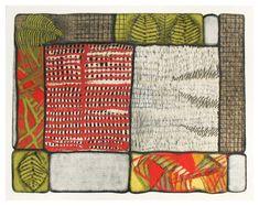 Fragmented Landscape fiber art collage by martamouka on Etsy
