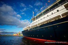 Scotland.  Tour the Royal Yacht Brittania.  Built in 1953 for Queen Elizabeth II, it was decommissioned in 1997, and is now moored as an exhibition ship at the Edinburgh port of Leith.  Amazingly luxurious!
