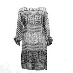 vestido - blusón de georgette JULUNGGUL primavera-verano 2014. www.julunggul.com Georgette dress, spring-summer 2014