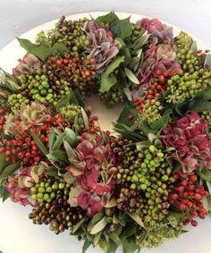 Herbstkranz Hortensien