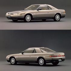 The 1990 #Mazda Eunos #Cosmo       Available only in Japan, this new-generation Cosmo came equipped with either of the world's first sequentially twin-turbocharged rotary engines: the venerable two-rotor 13B-REW, which would later gain fame under the hood of the third-generation Mazda RX-7, or the three-rotor 20B-REW. At 1,962cc of displacement, this was the largest-displacement rotary engine ever offered in a production car.