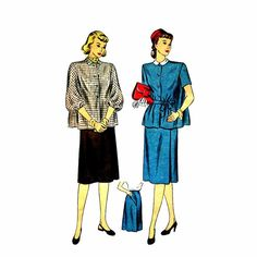 1940s Maternity Dress Vintage Sewing Pattern by patternshop, $27.99