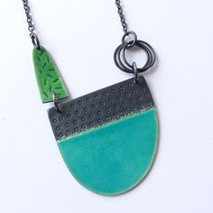 """369 Likes, 14 Comments - Caroline Finlay (@car0fin) on Instagram: """"Tidal necklace off to a new home today #silver #oxidisedsilver #enamel #vitreousenamel…"""""""