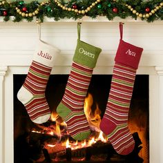 Personal Creations #Gifts  #Personalizedgifts Long Wool Stripe Stocking | Personal Creations - Great Personalized Gifts via- http://www.AmericasMall.com/personalcreations-gifts