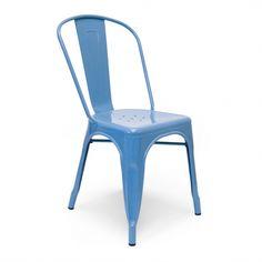 Tolix Side Chair - Blue - Set Of 2 | Memoky.com
