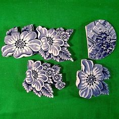 Mosaic Precision Cut Mosaic Tiles Jewelry Making mosaic tiles Blue Willow China