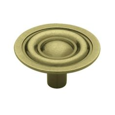 Liberty 1-3/8 in. Antique Tumbled Bronze Harmon Cabinet Knob ...
