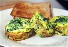 Spinach And Cheddar Mini Frittatas Recipe   MrBreakfast.com