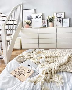 How to Style Ikea Malm Dresser Ikea Nursery, Ikea Bedroom, Home Bedroom, Bedroom Decor, Bedrooms, Ikea Malm Dresser, White Bedroom Furniture, Trendy Bedroom, Bed Design