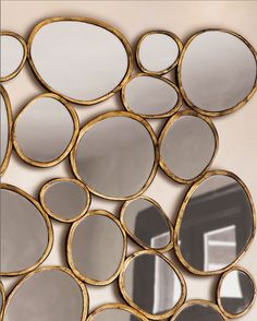 pebble shaped mirrors | fabuloushomeblog.comfabuloushomeblog.com