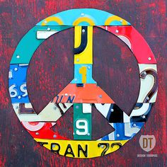 Peace Sign ✌  Mixed Media - Peace License Plate Art by Design Turnpike