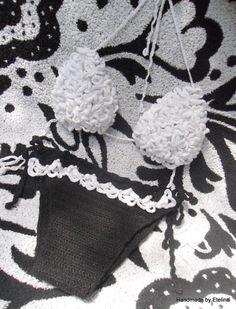 Swimwear Handmade Crochet Swimsuit Monokini  Bikini by Etelina, $69.00