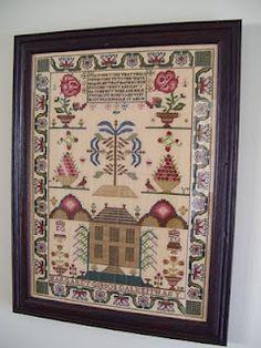Cross Stitch Samplers: January 2011 - Margaret Gibson Sampler (Scarlet Letter) stitched by DonnaSews