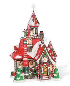 Department 56 Collectible Figurines, North Pole Village Collection - Holiday Lane - Macy's