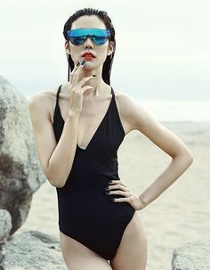Outtake from Vogue China- Tao Okamoto shot by David Slijper.  Post Production by The Little Agency.  We can't get enough of these sunglasses.