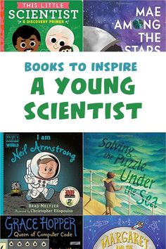 Children are naturally curious about the world around them — they ask why and how things work. They make observations about the world around them. They conduct experiments to find out the answers. Inspire your young scientist with these picture book biographies for children ages 3-12. Science Games For Kids, Brad Meltzer, Neil Armstrong, Pbs Kids, Parenting Hacks, Biography, How To Find Out, Parents, Coding