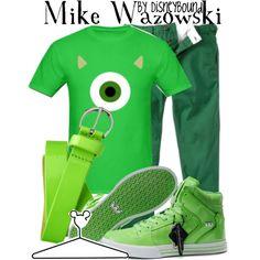 """Mike Wazowski"" by lalakay on Polyvore #disney"