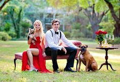 Thinking of including your dog in your engagement session? Here's how other engaged couples pulled off dog engagement photos. Elegant Engagement Photos, Dog Engagement Photos, Engagement Photo Inspiration, Beach Engagement, Engagement Couple, Engagement Shoots, Dog Wedding, Wedding With Kids, Wedding Pictures
