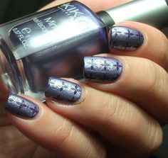 The Clockwise Nail polish: Sephora Parachute Purple & Kiko 622