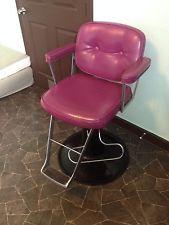 vintage purple vinyl salon hair stylist tattoo artist adjustable hydraulic chair Hairstylist Tattoos, Piercing Studio, New Shop, Recliner, Tattoo Artists, Salons, Design Ideas, Purple, Viola