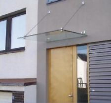 GLASS CANOPY FRAMELESS STAINLESS STEEL FIXINGS PORCH DOOR