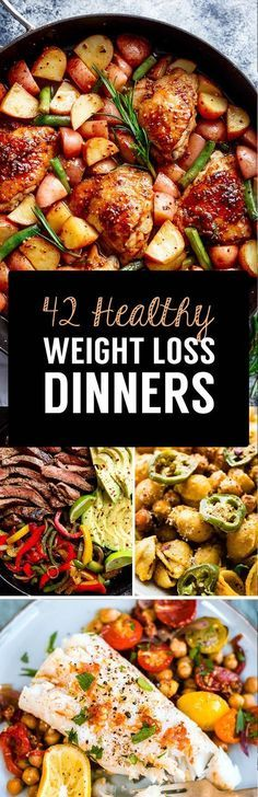 Weight loss dinner recipes - Delicious meals make losing weight fast and simple If you enjoy the food you are sitting down to, it makes sticking to a healthy, calorie controlled lifestyle a lot easier and if you are consistent w Weight Loss Meals, Weight Watchers Meals, Weight Gain, Reduce Weight, Loose Weight, Losing Weight Fast, Body Weight, Clean Eating Recipes For Weight Loss, Clean Eating Plans